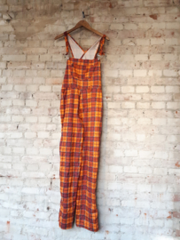 Checkered dungarees - Size 176 (childrens size)