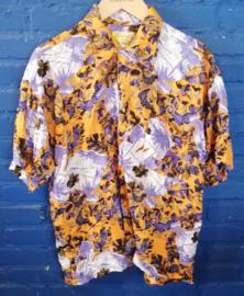 Hawaii Shirt orange/blue  Size: M