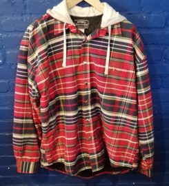 Hooded flannel jacket - Size M