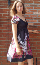 Dress black with paisley deco size M