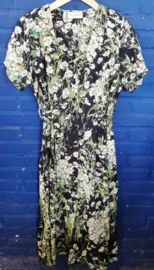 Green summer dress with daisies Size: S