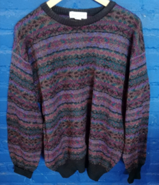 purple knitted sweater size: L