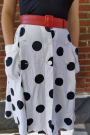 White polkadot skirt Size: M