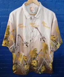 Hawaii Shirt with guitars Size: L
