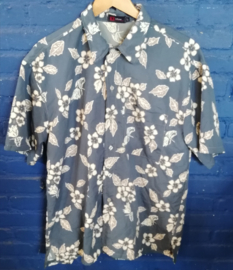 Hawaii Shirt blue/grey Size: L