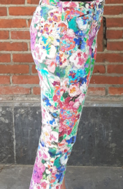 Pants with painted flowers Size: XL