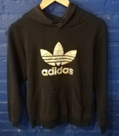 Black and gold Adidas hoodie - Size S