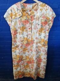 Flowered dress Orange size XL