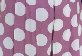 Lilac skirt white dots Size: L