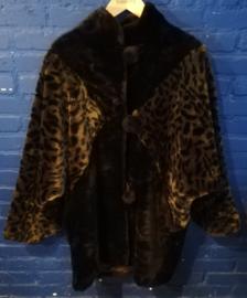 Fake fur coat size: M