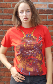 Red t-shirt with print, pirate Size: L