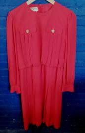 Red dress,  gold colour buttons size: L