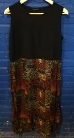 black/green/brown dress, size: L