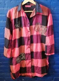 flannel blouse/dressSize: L