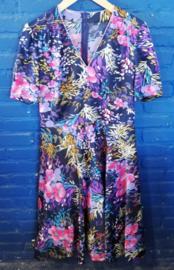 Flowered dress purple size XL