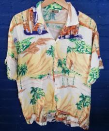 Hawaii Shirt  with surf vans Size: XL