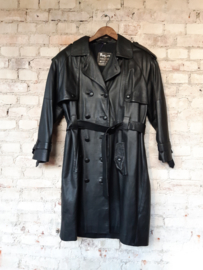 Leather trenchcoat - Size F