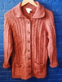 Knitted pink vest - Size L