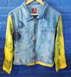 Jean jacket with tie-dye sleeves Size L