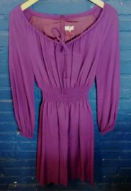 Purple dress with elastic waist band  Size: S