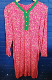 Flowered dress in pink size: S