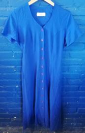 Blue buttoned dress Size: M