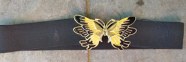 Strech belt with metal butterfly