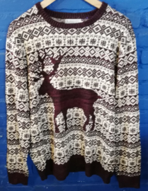 Deer knitted sweater - Size L