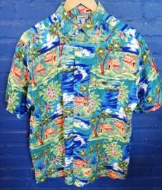 """Hawaii Shirt """"huts"""" Size: M"""