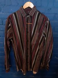 Corduroy print shirt Size: M