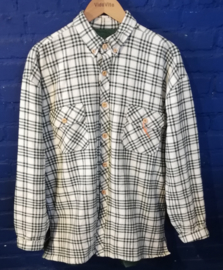 Flannel shirt green/white Size: L