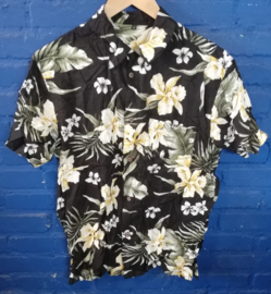 Hawaii Shirt with yellow flowers size: M