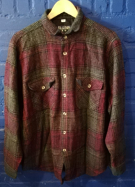 Wool flannel button up shirt - Size  XL