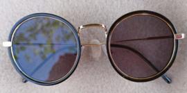"Sunglasses ""black gold circles"""