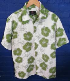 Green/white Hawaii shirt Size:L