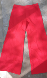 Red flared pants Size:M