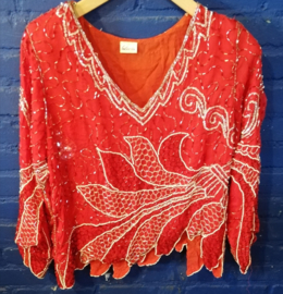 Beaded indian style top - Size M