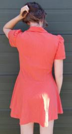 Red polka dot minidress size:XL
