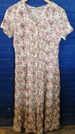 Buttoned dress with roses Size: L