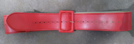 Red belt vintage plastic