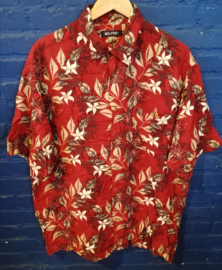Red hawaii blouse Size: L