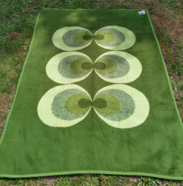 Vintage blanket grass green