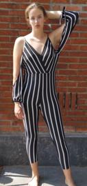 Jumpsuit black/white Size: L