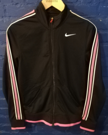 Black and pink Nike track top - Size S