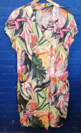 Summer dress with painting deco Size: XL