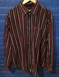 Striped cord button up shirt - Size XXL