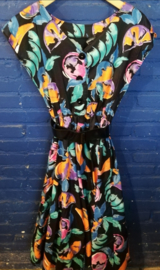 Sixties dress with fruit print Size: S
