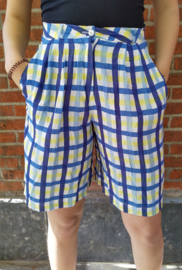 Checkered bermuda  yellow/blue Size: XL