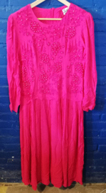Red dress with 'pearls' Size  S