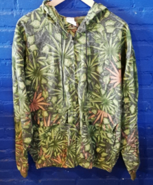 Summer hoodie with leafs Size XL